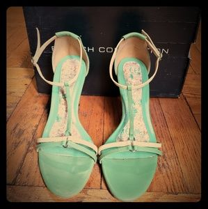 Vintage French Connection T-Strap Sandals
